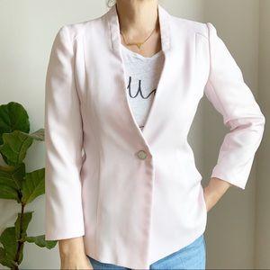 Vintage Light Pink One Button Blazer Size M